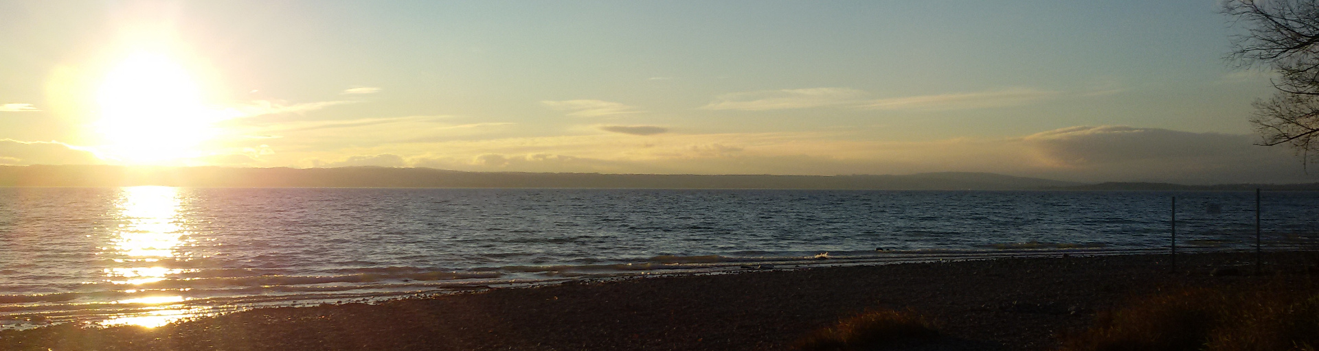 Strand in Immenstaad bei Sonnenuntergang